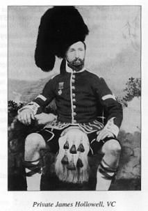 Victoria Cross winner Private James Hollowell of the Highlanders September 1857 in Lucknow Military Art, Military History, George Cross, Celtic Pride, Princess Louise, Crimean War, Highlanders, America And Canada, Knights Templar