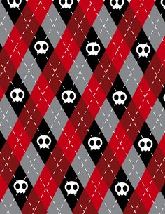 Cute Skull Argyle Pattern '09 by Forever-Endeavor12.deviantart.com