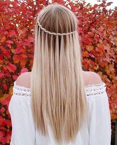 Inspirasjon: 32 frisyrer til å adoptere når du har langt hår! Winter Hairstyles, Pretty Hairstyles, Girl Hairstyles, Braided Hairstyles, Wedding Hairstyles, Hairstyle Braid, Hairstyles 2016, School Hairstyles, Beautiful Braids