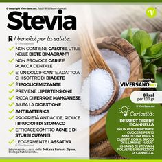 Stevia, dolcificante senza calorie: ecco proprietà e controindicazioni Healthy Mind, Healthy Habits, Healthy Choices, Healthy Eating, Health Diet, Health And Wellness, Health Fitness, Stevia, Detox Recipes
