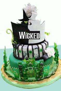 Wicked the Musical - Wonder if I can convince Eric this would be the perfect wedding cake!