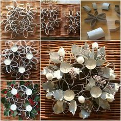diy-pretty-candle-holder-using-toilet-paper-roll-i and many other ideas for diy candle holders Toilet Paper Roll Art, Toilet Paper Roll Crafts, Diy Candle Holders, Diy Candles, Small Candles, Paper Towel Roll Crafts, Christmas Crafts, Christmas Decorations, Paper Quilling