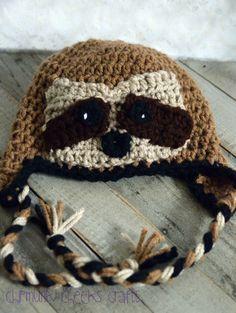 Sloth hat newborn sloth hat baby sloth hat toddler sloth Crochet Sloth 0ce5cf69b9d3