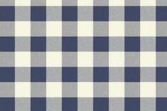 Navy Buffalo Check fabric into Empire Valance for my kitchen