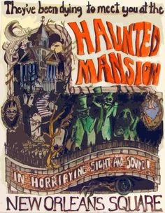 Haunted Mansion Poster by on deviantART Disneyland Rides, Disney Rides, Disneyland Resort, Disney Love, Disney Parks, Walt Disney, Haunted Mansion Disney, Haunted Houses, Disney Halloween