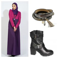 #Abaya #Maxi Dress Adeline Orchid combines comfort with a casual look. mix and match for Your #Hijab Fashion #IZZApin izzafashion.com