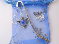 Teapot Bookmark Crystal Bookmark Metal by pnljewelrydesigns, $8.00