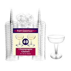 Party Essentials Hard Plastic Two Piece 4-Ounce Champagne Glasses, Clear, 40 Count True Fabrications http://www.amazon.com/dp/B00VK6VJ30/ref=cm_sw_r_pi_dp_-FXJwb1VQHV77