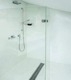weisse dusche aus terreno von meinem kollegen dirk sievers hamburg badezimmer pinterest. Black Bedroom Furniture Sets. Home Design Ideas