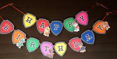 Nick Jr. Paw Patrol Happy Birthday Banner by misscreativeme