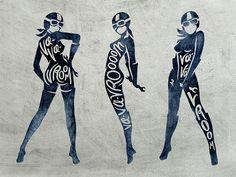 Va-Va-Vroom Motorcycle Pinup Girls by Matylda Mcilvenny