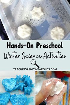 Hands-On Preschool Winter Science Activities Incorporate some STEM activities into your winter theme with these interesting preschool winter science activities that allow for fun hands-on learning. Science For Toddlers, Science Experiments For Preschoolers, Science Crafts, Stem Science, Science For Kids, Science Centers, Space Activities, Preschool Learning Activities, Steam Activities
