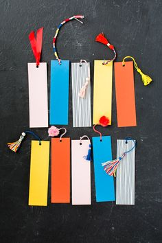 DIY tassels for bookmarks
