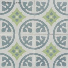 Cement Tile Shop has beautiful in stock Camryn French Blue handmade encaustic cement tile ready to ship. Cement Tile Backsplash, Cement Tiles Bathroom, Ceramic Mosaic Tile, Concrete Tiles, Wall Tiles, Basement Bathroom, Kitchen Backsplash, Master Bathroom, Bathroom Ideas