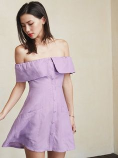 It's about time your shoulders (and legs) made an appearance. The Botanica Dress. https://www.thereformation.com/products/botanica-dress-lavender?utm_source=pinterest&utm_medium=organic&utm_campaign=PinterestOwnedPins