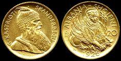 Gold Albanian Coin