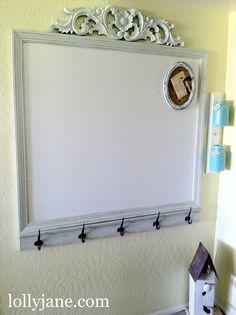 Painted Mason Jar storage/custom white board