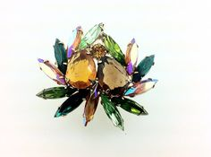 50% OFF SALE, Colorful Fruit Salad Rhinestone Brooch, Sparkly Vintage Jewelry. on Etsy, $25.00