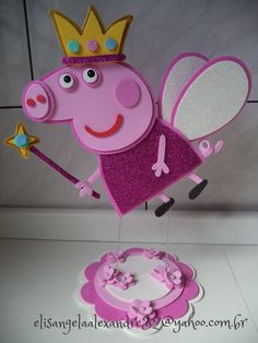 pepa Peppa Pig Birthday Decorations, Peppa Pig Birthday Cake, Barbie Birthday, 3rd Birthday Parties, 2nd Birthday, Molde Peppa Pig, Cumple Peppa Pig, Pig Crafts, Pig Party