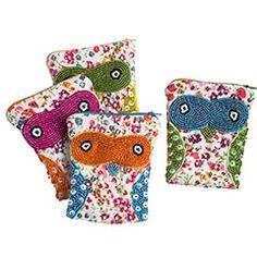 I'm not sure what started the owl craze, or when... but I love it!  Aren't these coin purses adorable?!