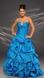 blue gown evening gown : got it in bloodorange by chance?