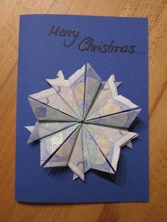 Weihnachtsstern auf Grußkarte