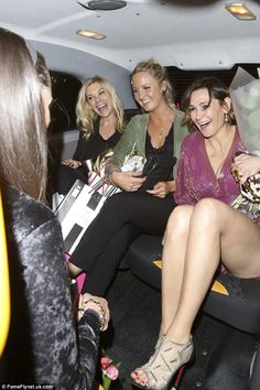 Chelsy appeared to have made the most of her night out and looked in great spirits as she left the event with a trio of friends in a cab