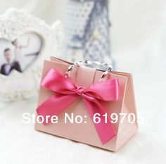 FREE SHIPPING 100pcs/lot  Red Pink Gold Beige Elegant candy Bag  Favors box Wedding favor Party candy  box Anniversary gifts box $75.00