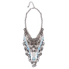 Metal star and tassel necklace
