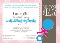 Beatles Dear Prudence Baby Shower Invitation by notablynoted. Super Cute!!