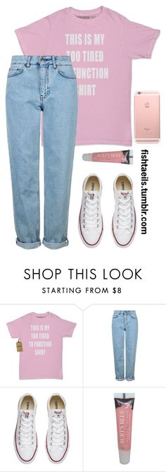 """""""Casual Date / Kihyun / Monsta X"""" by cxurt-ney ❤ liked on Polyvore featuring Topshop, Converse and Burt's Bees"""