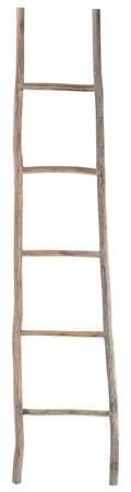GUEST BATHROOM White Washed Wood Ladder - Large * Home Accessories at Art.com