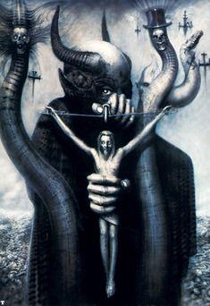 H.R. Giger 2013 Lewis Dallimore - Compose for image: Satan I [http://soundcloud.com/lewisdallimore/compose-for-image-satan-i] original artwork: Satan I (1977) #albumcover