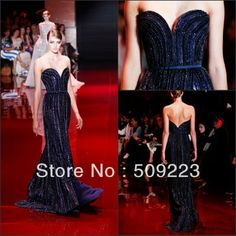 Luxurious 2014 Sweetheart Vestidos De Fiesta Long Royal Blue Elie Saab Sweep Train Sexy Elegance Evening Gown Prom Party Dress US $268.00