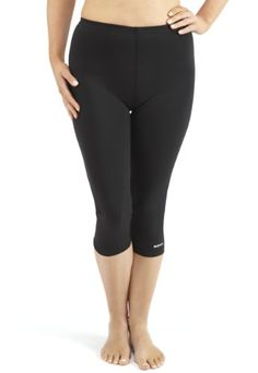 Bohn Swimwear Ladies 34 Length Swim Leggings US 12 Black >>> Read more  at the image link. (Note:Amazon affiliate link)