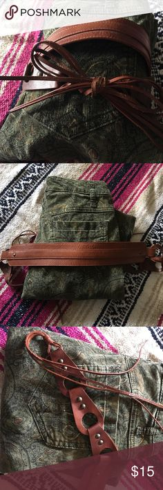 Boho Chic Belt Banana Republic western styled belt, Genuine Leather Accessories Belts