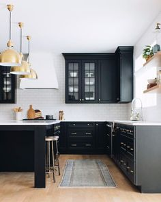Groovy 493 Best Black Kitchens Images In 2019 Home Kitchen Download Free Architecture Designs Terchretrmadebymaigaardcom