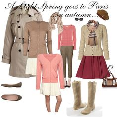 """""""A lLight Spring goes to Paris ...in autumn..."""" by silverwild on Polyvore"""