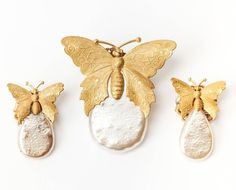 Miriam Haskell Butterfly Parure image 2