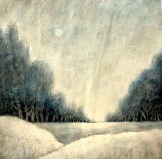 Weihnachtsgruß -  Winterlandschaft in Acryl , Christmas greetings -  winter landscape - YouTube