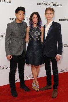 September 7: Kaya Scodelario, Thomas Sangster and Ki Hong Lee at the Scorch Trials screening in London!