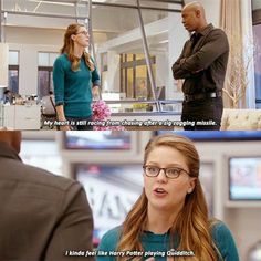 Supergirl makes a Quidditch reference