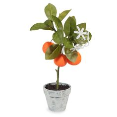 Mandarinier artificiel en pot H 35 cm