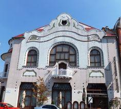 art nouveau building, kecskemet, hungary, 8-2012.