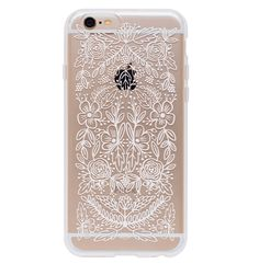 Floral Lace Protective iPhone Cover from Rifle Paper Company for iPhone 6. I also like the transparent phone covers with pressed flowers, you can find a lot of them on etsy.