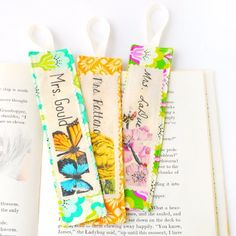 Thank a teacher with these quick to make personalized bookmarks.