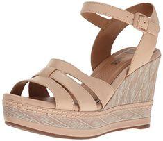 a77e975be8e1 CLARKS Women s Zia Noble Wedge Sandal