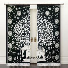 Elephant Mandala Curtains Drapes Window Treatment Bohemian Valance With Tassel Unbranded Traditional