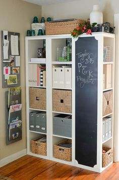We love our Ikea Expedit! It's been our organizational haven and overall family command center for the last four years. It's the ikea hack I get asked most about and when the Expedit was recently di