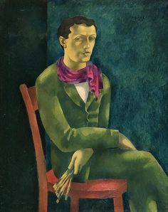 Eugeniusz Zak (Polish, 1884-1926), Self-Portrait, 1916. Oil on canvas, 100 x 80 cm.